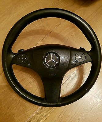 Mercedes w204 leather steering wheel with paddles