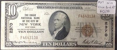 1929 $10 Bill Chase National Bank Of New York