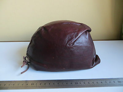 Vintage Leather & Metal Helmet Scooter Motorcycle Military Tank Dispatch Rider ?