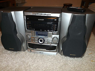 Sharp mini disc and 3 CD player hifi sytem MD-C2 with speakers #2