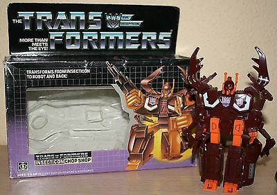Transformers Insecticon Deluxe Chop Shop G1 With Box 100% Complete Mib C10 1986