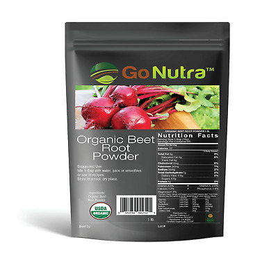 1 lb. Certified Organic Whole Beet Root Powder - Non-GMO - Pure Beet