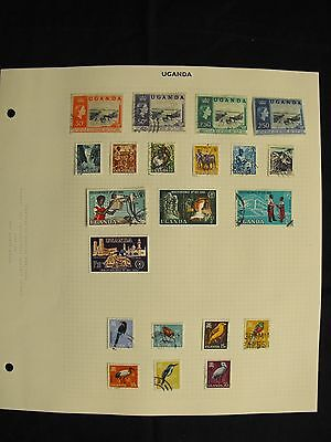 Uganda 1962 To 1980 Mint Hinged And Used Collection 59 Attractive Stamps