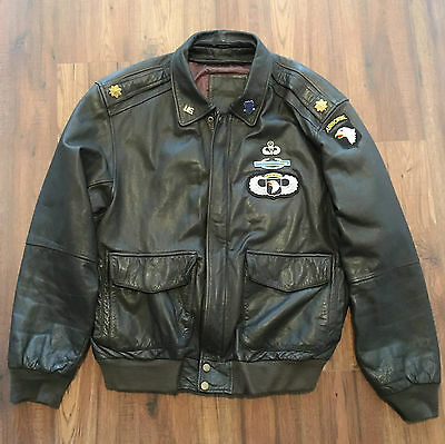 LEATHER JACKET - 101st AIRBORNE DIVISION 506th PIR - CURRAHEE - PARATROOPER 506