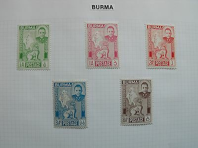 Burma / Myanmar 1948 To 1964 Mint Hinged And Used Collection 53 Nice Stamps