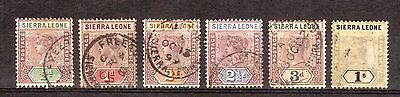 Sierra Leone:1896:Various Values 1/2d to 1/-,Used.C.£41+