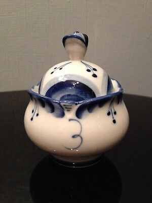 Vintage Blue And White Preserve Pot Foreign