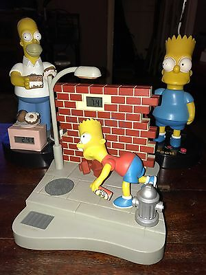 3 X Vintage The Simpsons Bart & Homer Alarm Clocks