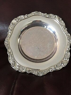 Baroque By Wallace Silverplate Coaster Tray # 244