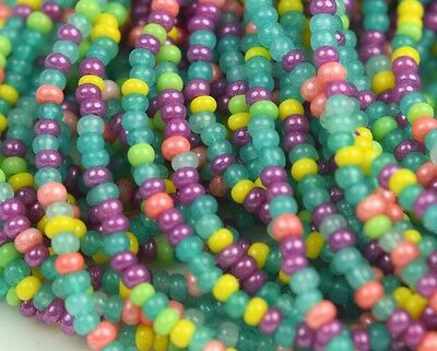 "Czech Glass Seed Beads 11/0 "" JADE MIXTURE "" 1 Hank"