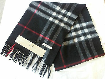 Burberry Scarf Black Unisex Brand New With Tags 100% Cashmere