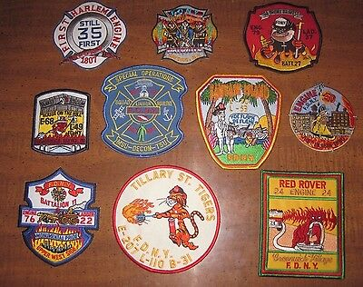 10 NEW Fire Department Patch Lot unused NY Patches Engine Ladder 3