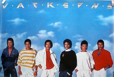 Rare Jackson 5 Five Victory 1984 Vintage Orig Music Record Store Promo Poster