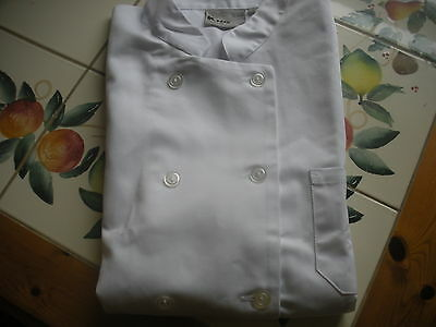 New KNG Chef's Coat Size Large, Short Sleeves