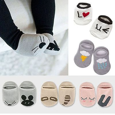 Baby Asymmetric Animal Cute Anti-slip Rabbit Rat Bear Short Socks Cartoon