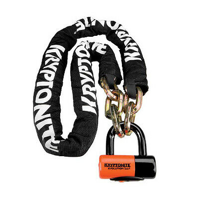 Kryptonite New York 170cm Hardened Chain and Lock 999522 Motorcycle Security Gar