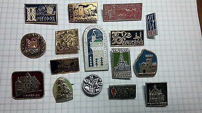 Lot 16 Soviet Pin Badges USSR period