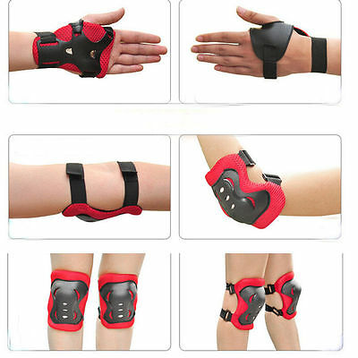 6 piece Kids Sport and Skating Protective Pads Wrist Elbow and Knee Protectors