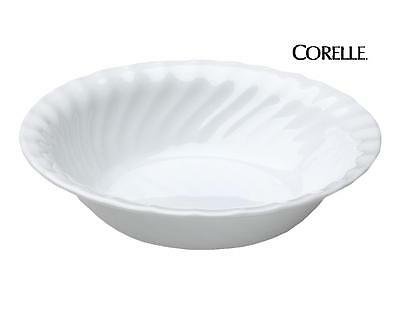 "1 CORELLE Impressions ENHANCEMENTS 18-oz SOUP Cereal BOWL 7 1/4"" White Swirls"