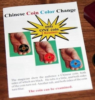 Colour Changing Chinese Coin Professional Magic Trick