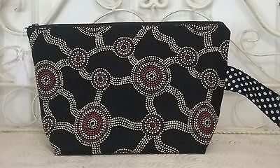 Indigenous Print Black Knitting and Crochet Project Bag