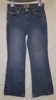 Place Girls Size 8 Stretch Adjustable Waist Flare Jeans