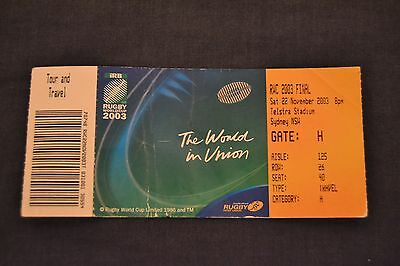 2003 Rugby World Cup Final Ticket England v Australia Good Con.