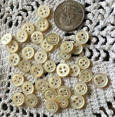 Large GROUP of Vintage  BUTTONS - MOTHER OF Pearl Shell - 4 Hole ALL the SAME