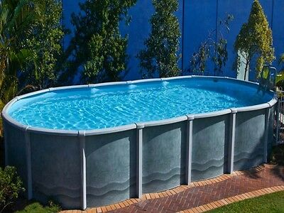 Oval Above Ground Swimming Pool 6.7m x 3.6m x 1.37m (2017 Braceless Design)