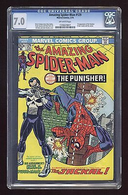 1974 Amazing Spider-Man 129 CGC 7.0 1st Punisher Bronze Age Marvel key