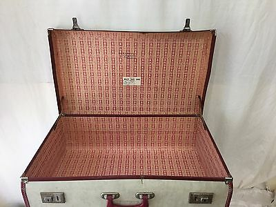 Vintage White Suitcase Made In Sydney by Quality Travel Goods Pty Ltd