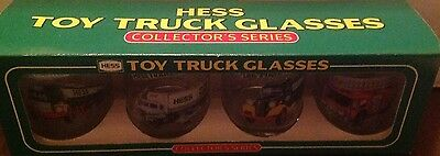 Hess Truck Employee Gift Set Of Glasses(Rare Box Set!) Box Not Sold To Public-Ne