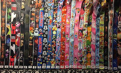 Pick 2 Lanyards + 2 ID Holders Neck Strap Great For Disney Pin Trading Frozen