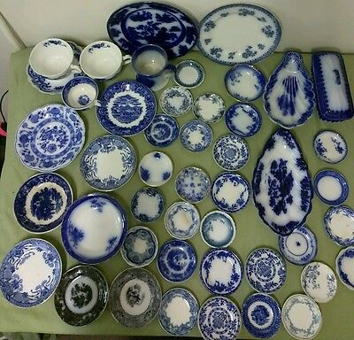 Antiques Dishes 45 Pieces