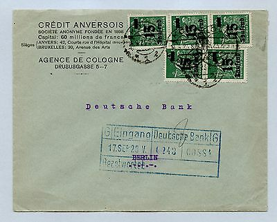 GERMANY INFLATION COVER cds 1923 FKD w/SC#243 X5   BERLIN
