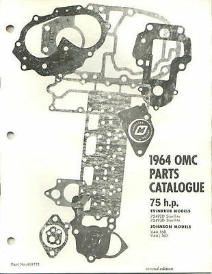 1964 Omc Evinrude Johnson 75 HP outboard Parts Catalog