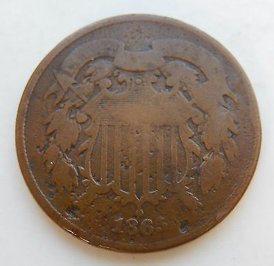 1865 Two Cent Piece ~ 2¢ Coin