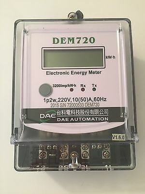 DAE DEM720-2 Electric kWh Submeter, 1 phase, 2 wire, 240v, 50A, Internal CT