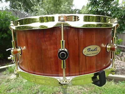 NEW .Indi Drums Australia, Red gum 14 x 5 3/4 inch, snare drum.