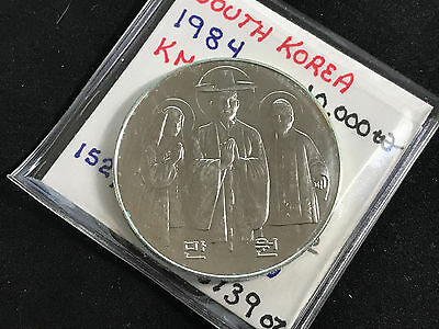 1984 South Korea 10000 Won 200 Years Of Catholic Church In Korea Km#40 Bu