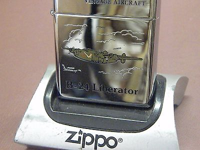 ZIPPO 1999~VINTAGE AIRCRAFT MILITARY-B-24 LIBERATOR-Mint Unfired Beauty! NOS!