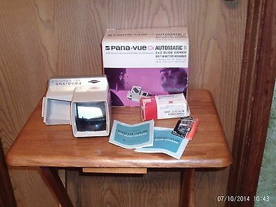 Vintage Pana-Vue Automatic 2 X 2 Slide Viewer In Original Box