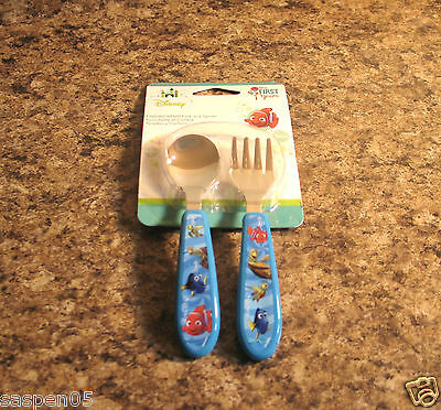Disney Baby Finding Nemo Toddler Fork and Spoon Flatware Set  NEW