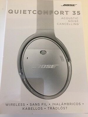 Bose QC35 Acoustic Noise Cancelling Wireless Headphones Silver NEW
