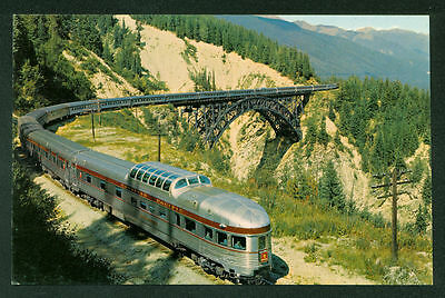 Canadian Pacific Stainless Steel Scenic Dome Rockies Railroad Postcard
