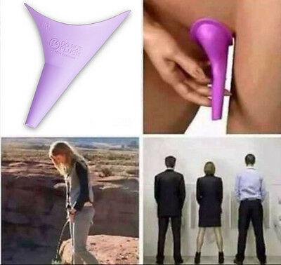 New Go Girl Lavender FUD Female Urination Device in Box for Emergency Pink