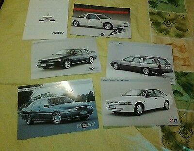 HSV VP Dealer Issue Brochures x 6 SV91 Formula 5000i Maloo Sport Wagon 1991