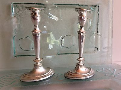 Antique Silver Candle Sticks