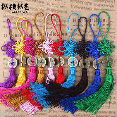Wholesale10pcs Chinese Handmade Classic Knot Handbag Strap Charm With Coin