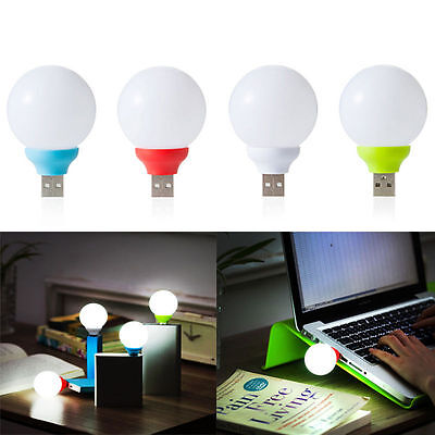Mini USB LED Light Bulb Computer Lamp for Notebook PC Laptop Reading Portable RX